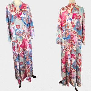 Natori Floral Boho Caftan Size XL